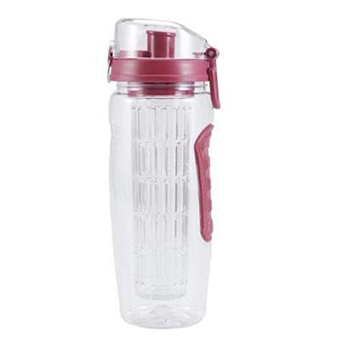 SODIAL 32Oz 1000 ML sans BPA Infuseur de Fruits Jus Shaker Sports Citron Bouteille d'eau Tour RandonnéE Portable Escalade Camp Bouteilles (A)
