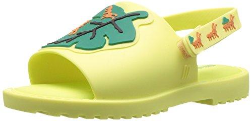 Mini Melissa Baby-Girl's Mini MIA + FABULA II Flat Sandal, Green, 5 Regular US Toddler