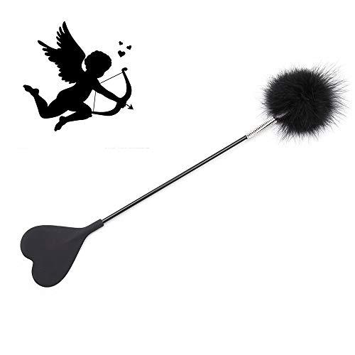 Roiz Látigo mágico para cosplay de palo de hadas con corazón lindo Slicione y pluma suave