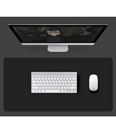YUDEYU Bloc de Notas Oficina Mantel Individual Alfombrilla de ratón de Gran tamaño Monocromo 2 mm de Espesor Simplicidad Moderna (Color : Black, Size : 1400x700mm)