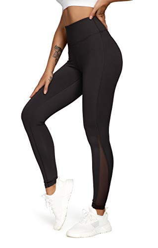 AVGO High Waisted Water Proof Yoga Pants Soft Full Length Legging No Sweat Stain Size M Color Black