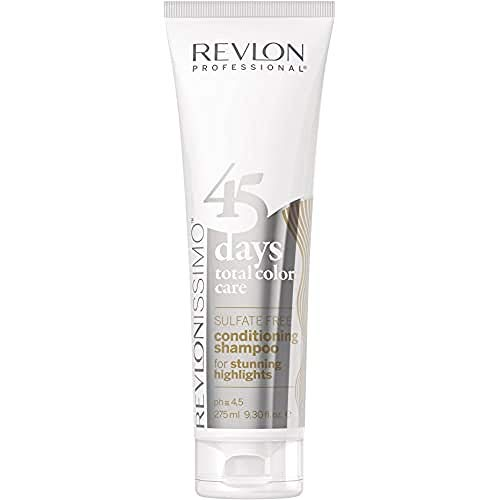REVLON PROFESSIONAL45 Days 2 in 1 Shampoo / Conditioner Farbschutz Highlights Blond Weiß / Platin, 275 ml