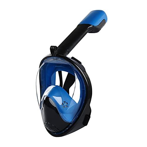 PJRYC Maschera per Immersioni subacquee Pieno Viso, Specchio Anti-Nebbia, Tuta da Snorkeling Subacquea, Maschera Respirabile, Ampio Campo visivo (Color : As Shown, Dimensione : L-XL)