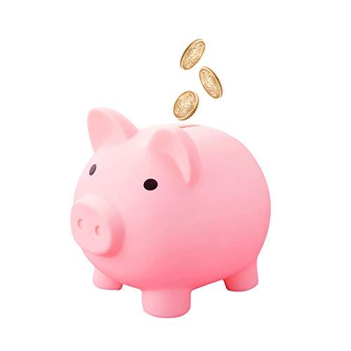 Hucha de cerdo, diseño de cerdo, hucha con dibujos animados Kawaii, cerdito de cerdo, hucha, moneda, ahorro, dinero, caja de ahorro, para niños, adultos, color rosa M