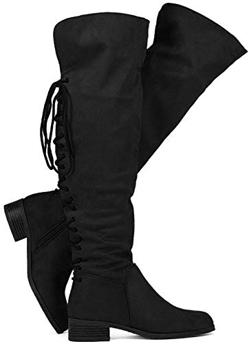 WestCoast Women's Flat Knee High Boots Fold Over Cuff Over The Knee Back...