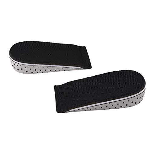 DYSCN Height Increase-Innensohle, Fersenlifte für Schuhe, unsichtbare, atmungsaktive Einlagen-Hebebühnen für Herren und Damen, Größe 2