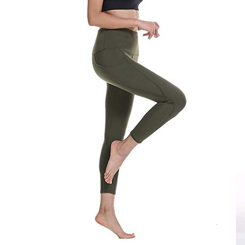 nologo Pantalones de yoga de cintura alta para mujer Pantalones para correr al aire libre Pantalones deportivos para exteriores