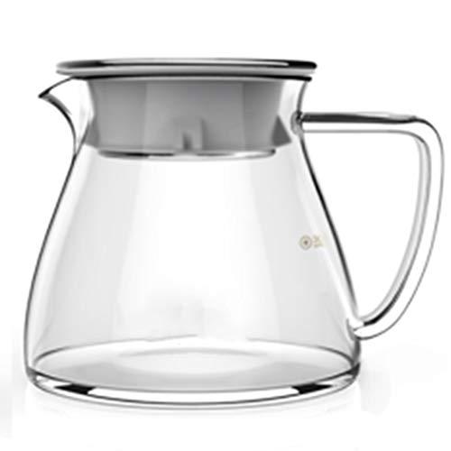 Serveur de café en Verre 360ml600ml, cafetière à Hautes températures résistante à la Chaleur, théière de Famille, Service à thé en Verre, pour la Maison, Bureau