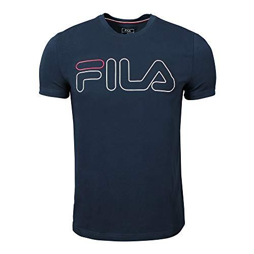 Fila Camiseta de Hombre Ricki Peacoat Azul Blue, Herren:XL