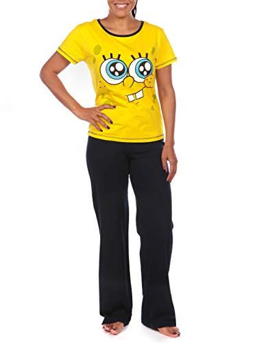 Spongebob Schwammkopf Damen Sponge Bob Squarepants Schlafanzug Gelb XX-Large