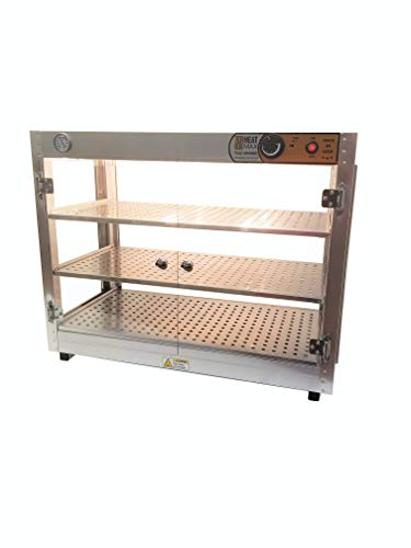 Heatmax 30x15x24 Commercial Food Warmer Merchandiser Display Case, Patty, Pastry, Pizza Warmer