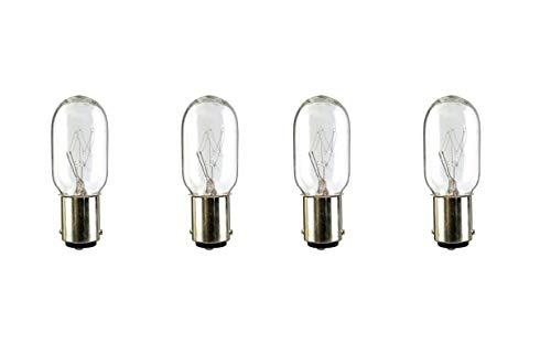 4 Vacuum Light Bulb for Kenmore 20-52410 or 5240 Powermate Progressive 4370018, fits Eureka, Filter Queen Majestic