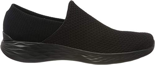 Skechers Damen You Slip On Sneaker, Schwarz (Bbk), 38 EU
