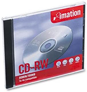 Imation 12381 CD-RW, 74 Minute, 650 MB, 4x (Single with Jewel Case) (Discontinued by Manufacturer)