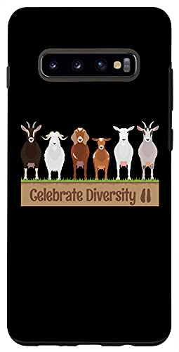 Galaxy S10+ Goats Phone Case | Celebrate Diversity Gift for Goat Lovers Case