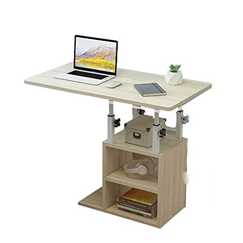 Mesa de ordenador portátil de mesa lateral de escritorio bandeja de comida en forma de C sofá silla para el hogar habitación oficina lectura trabajo comer 80x40cm bandeja de comida escritorio