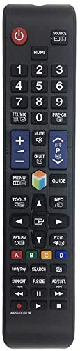 MYHGRC Mando AA59-00581A para Samsung Smart TV fit para Control Remoto para Samsung HDTV LCD LED TV-Reemplazado BN59-01198Q AA59-00580A AA59-00582A - No Requiere Configuración Control Remoto universal