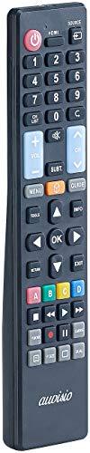 auvisio Fernbedienung Fernseher: 5in1-Ersatz-TV-Fernbedienung für Samsung, Sony, Philips, Panasonic, LG (Universal Fernbedienungen)