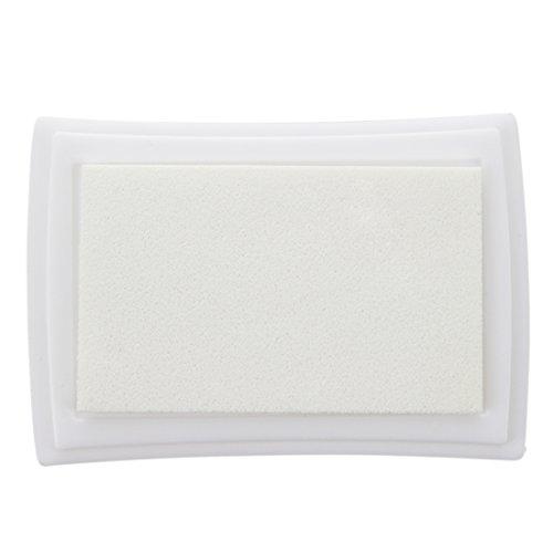 JVSISM Almohadilla Tinta para Sello Tampon Color Blanco para Ninos No Toxico