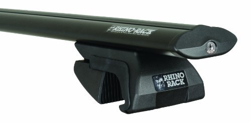 Rhino Rack 2-Bar Sportz Rail Mount Aero Bar Roof Rack System, Black, SXBS33 by Rhino Rack