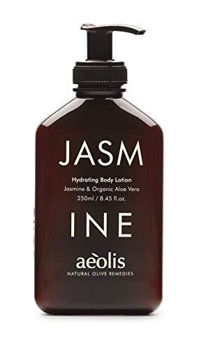 AEOLIS Skincare | JASMINE Hydrating Body Lotion | Jasmin & Aloe Vera | Für trockene Haut | 100% natürlich | Ohne künstliche Zusätze (Jasmin, 250ml)