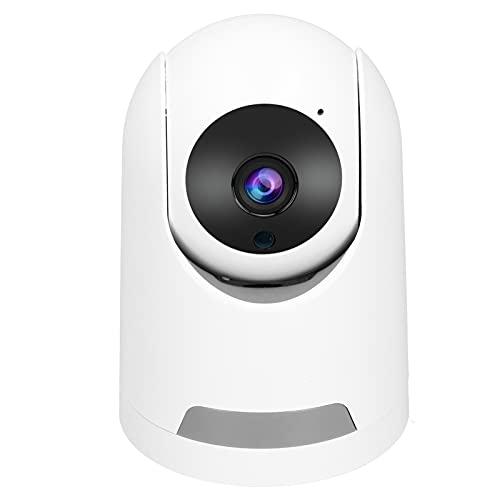 Jopwkuin Izquierda y Derecha 355 ° Vertical 110 ° Ángulo PTZ Sistema de cámara de Seguridad inalámbrico Cámara WiFi 128 GB de Memoria Detección de Movimiento Vigilancia de Seguridad(Enchufe de la UE)