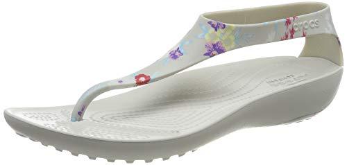 crocs Damen Serena Graphic Flip W Wassersportschuh, Tropical Floral/Pearl White, 42/43 EU