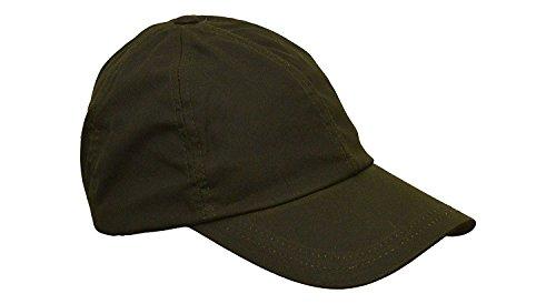 WALKER AND HAWKES Unisex Baseball-Kappe aus gewachster Baumwolle - Einheitsgröße Olivgrün