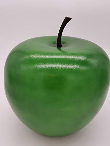 Deko-Apfel XXL aus Leicht-Zement in Grün 33cm x 39cm - Für den Innen- und Außenbereich - Tolle Dekoration für Garten, Balkon oder Terrasse - Absolut FROSTFEST und WITTERUNGSBESTÄNDIG