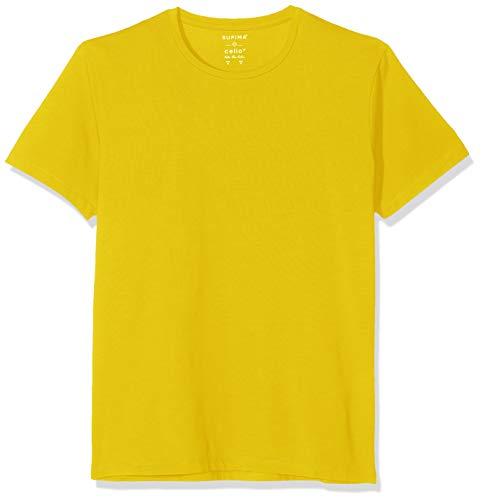 Celio Neunir Camiseta, Amarillo (Olive Olive), Large para