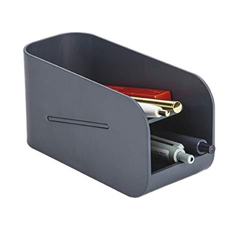 MARIJEE Creativo soporte magnético de doble capa, organizador de escritorio, suministros de oficina escolar, bonita caja de almacenamiento de plástico magnética multifunción