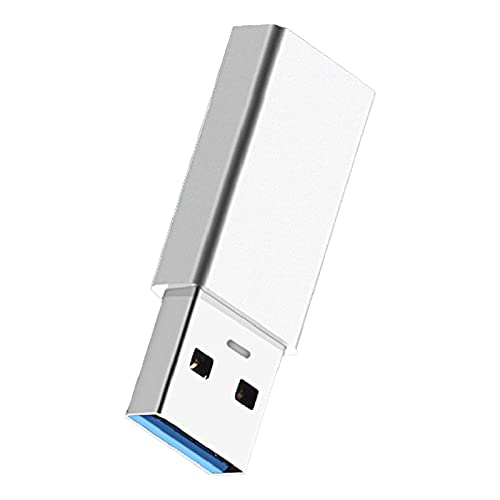 fuchsiaan Type-C Adapter Converting to USB3.0 Metal Mini Cable Converter for PC Tablets - Silver