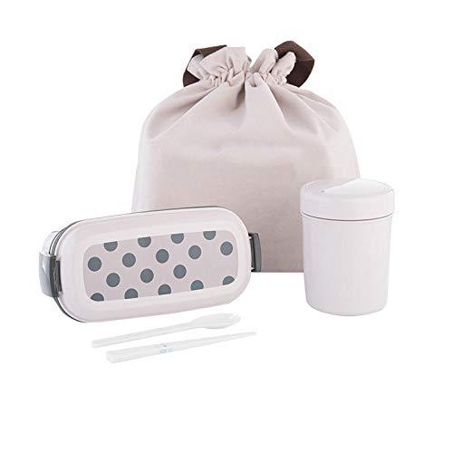 Contenitori per Alimenti Porta Pranzo con Lunch Box A Doppio Strato può Essere Riscaldato con Forno A Microonde