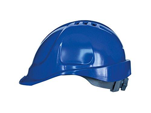 Bauarbeiterhelm, Schutzhelm mit Schweißband, Industrie Arbeitsschutzhelm, Schutzhelme, Arbeitshelm Kopfgrößenverstellung, EN397, weiß, Arbeithelm (Blau)