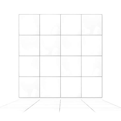 WALPLUS WT3D3034, blanco, 15 x 15 cm