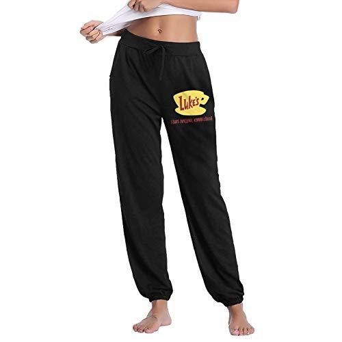 JSRTELOI Luke's Diner Women's Long Activewear Yoga Pants Pajamas Pants Loose Sweatpants Pants Black