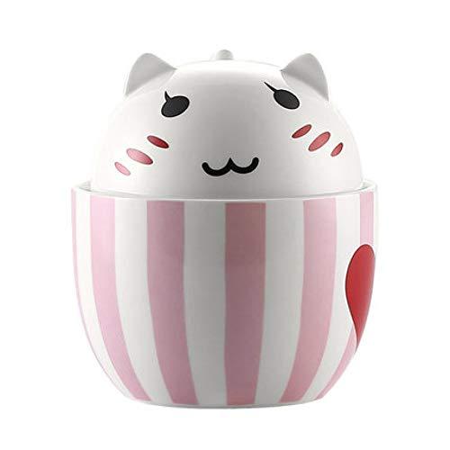 AICUP 2 In 1 Süße Katze Thema Milch/Kaffee Tassen Zum Nachtisch Speichern Und Trinken Teilen, Keramik Tassen Mit Deckel Küchenhelfer