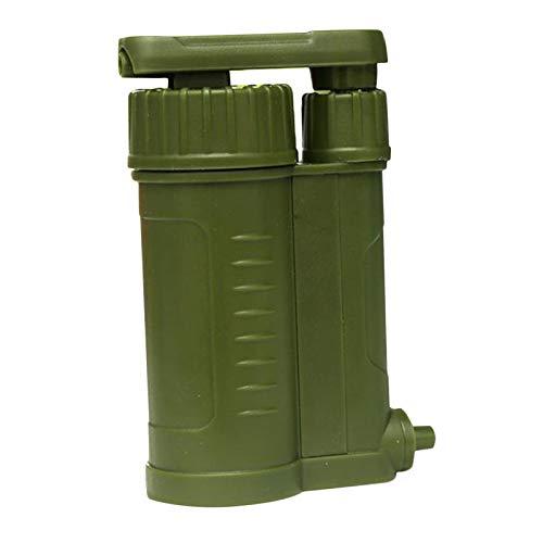 Perfeclan Bomba purificadora de Agua, Filtro de Agua de Carbono de 0,01 micrones, Equipo portátil de Emergencia y Supervivencia-Camping al Aire Libre,