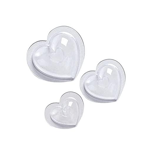 Ashley GAO 3 moldes de plástico para manualidades con forma de corazón de amor y mousse Moldes de Navidad para pastelitos de fondant de chocolate