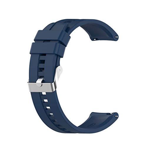 EATAN Leiouser - Correa de silicona universal de 20 mm, compatible con reloj Real-Me Watch GT2 Sport Correa de repuesto para reloj inteligente