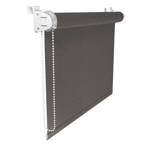 Victoria M. Klemmfix Verdunkelungsrollo ohne Bohren Rollo 75 x 150 cm, Grau, Seitenzugrollo Verdunkelung für Fenster und Türen