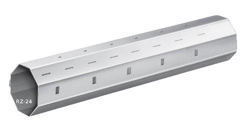 Rolladenstahlwelle SW 40 Achtkant | Wandstärke 0,8 mm | mit außenliegendem Falz (Stahlwelle | SW40 | Länge 2000 mm)