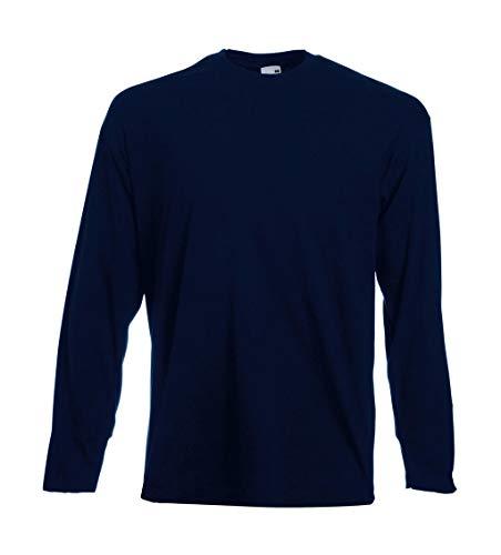 4 Fruit of the Loom T Shirt Longsleeve M L XL XXL Langarm verschiedene Farbsets auswählbar (XL, Navy)