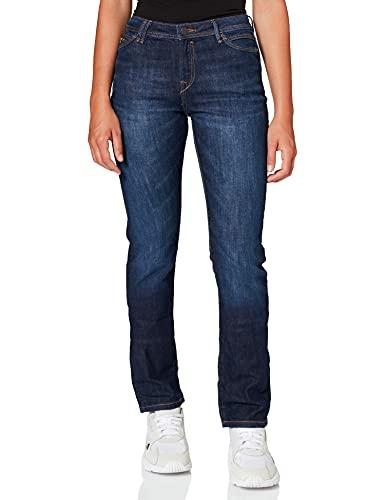 edc by ESPRIT Damen Low Cut Jeans, 901/BLUE Dark WASH 3, 32/32