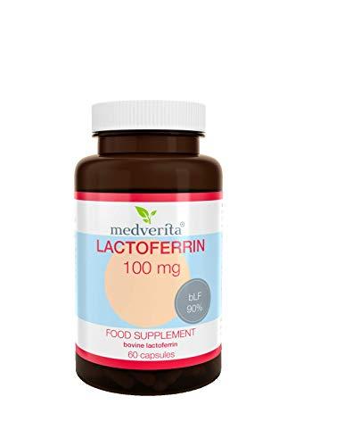 MEDVERITA Suplemento alimenticio Lactoferrina, 100 mg