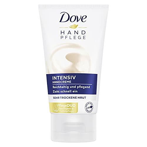 Dove Handcreme Intensiv mit PflegeDUO (intensive Feuchtigkeit und Tiefenpflege) speziell für sehr trockene Hände, 1 Stück (1 x 75 ml )