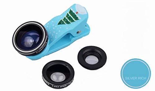 Ning Night SLR-lens voor smartphone, groothoek, macro-set, 3-in-1 cameralens (voor de meeste smartphones en iPads)