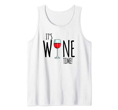 It's Wine Time, Lustiges Wein Geschenk Damen Tank Top