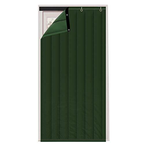 LIUJIANPING Verdickte Gesteppte Türvorhang, Haushalt Schallisolierung, Kälteschutz, Trennwand Vorhang, Velcro, Windundurchlässig Isolation Vorhang Men (Color : Grün, Size : 120x210cm)