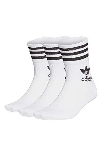 adidas Mid Cut CRW Sck, Calze Uomo, Bianco Nero, M